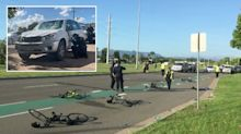 Five cyclists allegedly mowed down in early morning hit-and-run