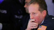 Wall Street falls as Apple, health shares drag, tariff deadline looms