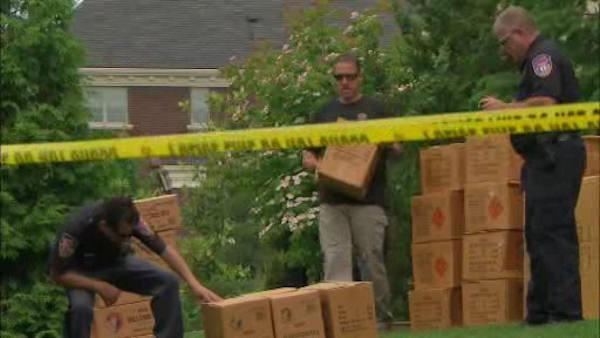 Huge fireworks cache discovered in Valhalla home's basement