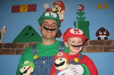 Father's Mario obsession becomes toddler's reality