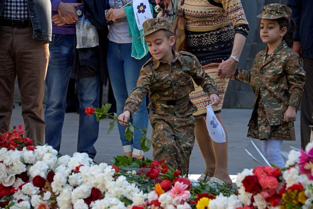 The commemorations of the World War 1-era massacre of Armenians by Ottoman forces are a hugely emotional event for the former Soviet republic (AFP Photo/KAREN MINASYAN)