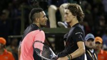 Angry Kyrgios calls out partying Zverev
