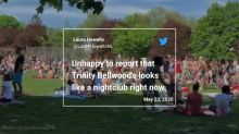 People Overcrowd Toronto Park Despite Social Distancing Rules
