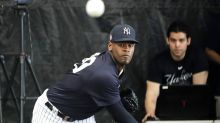 Yankees starter Luis Severino's live BP session delayed