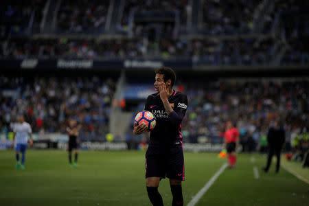 Football Soccer - Malaga v Barcelona - Spanish La Liga Santander