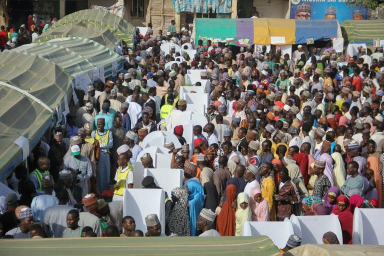 Image result for Nigeria begins count in presidential elections Read more at