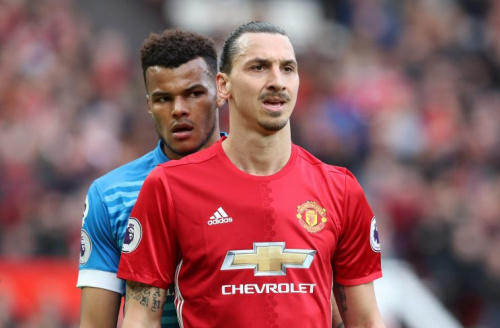 Tyrone Mings (left) and Zlatan Ibrahimovic clashed at Old Trafford on Saturday