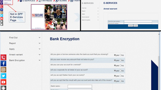 Police warn of phishing scam involving fake SPF website