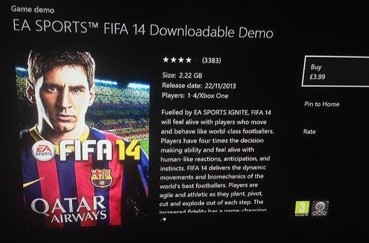 FIFA 14, UFC paid Xbox One demos a 'system error,' says EA rep [update]