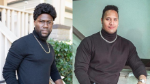 Kevin Hart rips The Rock over his classic bumbag picture with inspired Halloween costume