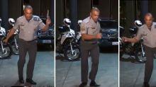 'A PM não faz distinção de cor', diz policial que viralizou por dançar em vídeo