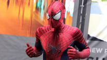 """Spider-Man""-Drehpause : Andrew Garfield spielt Basketball"