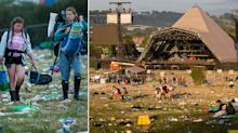 The great Glastonbury clear-up begins: Crew of 800 tasked with removing festival rubbish