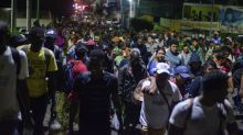 Caravan of 2,000 migrants detained in southern Mexico