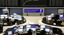European stocks fall, weakened by banks, Daimler; Dassault, CRH rally