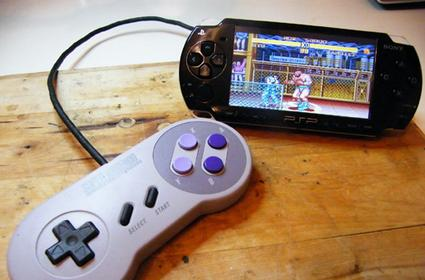 PSP mod allows the use of a SNES controller