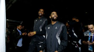 Kyrie rips media over video on his talk with KD