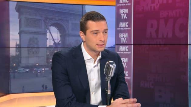"""Présidentielle: Jordan Bardella promet que Marine Le Pen """"ira au bout"""""""