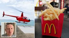 Millionaire rents helicopter to get McDonald's while on holidays