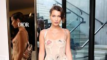 Bella Hadid Wore the See-Through Dior Dress All the Celebs Are Obsessed With