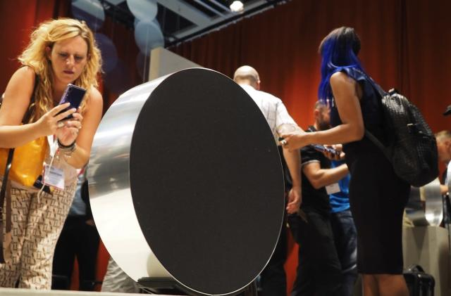 Bang and Olufsen's BeoSound Edge is its own giant volume dial