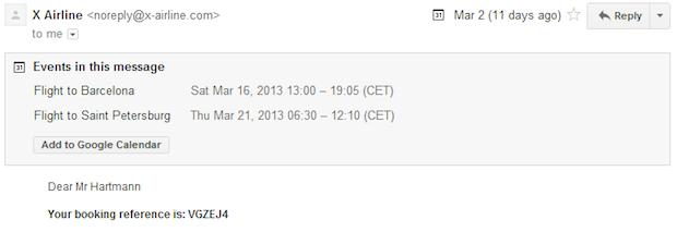 Gmail lets you add .ics calendar events directly to GCal with a single click
