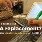 A short-term health deal by senators _ but Trump a question