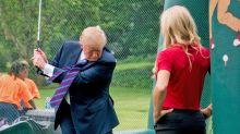 Revuelo por el simulador de golf de 50,000 dólares que instaló Trump en la Casa Blanca