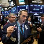 Wall St. climbs with oil, but Facebook's slide checks gains