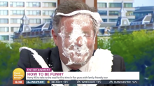 Piers Morgan gets pie in the face over Daniel Craig 'papoosegate' on GMB