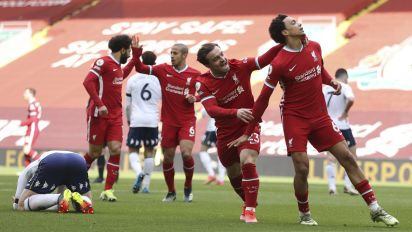 Red-letter day: Liverpool ends home losing streak