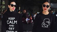 Kareena And Karisma Kapoor Twin It Out In Their Airport Style