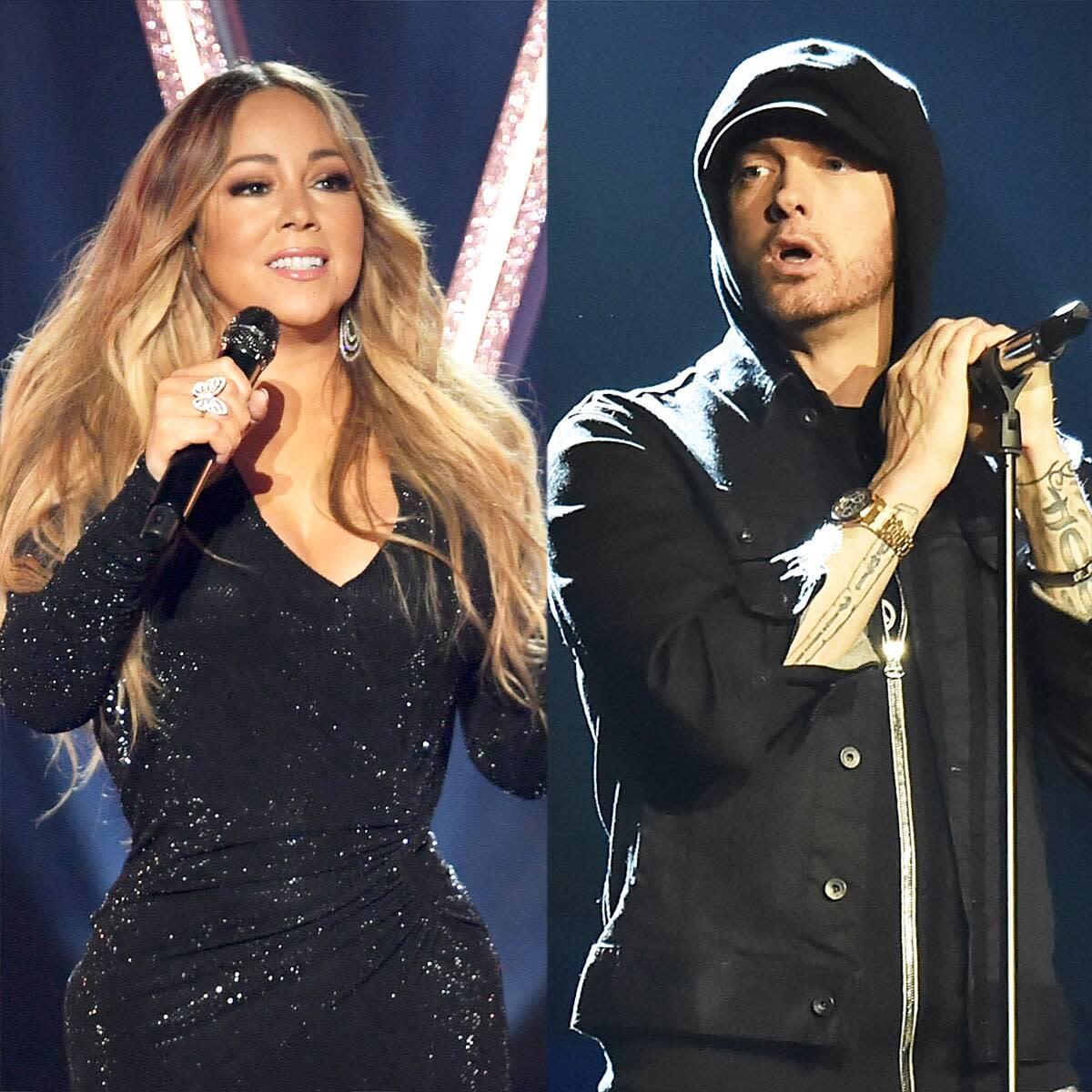 "Mariah Carey Throws Shade at Eminem While Celebrating ""Obsessed"" Anniversary"
