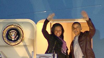 Raw: Obama Family Departs for Hawaii