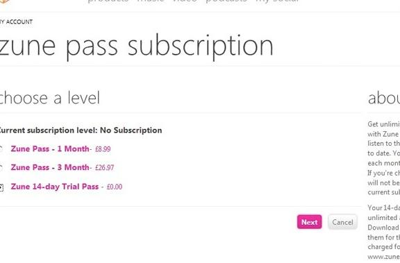 Zune Pass for UK gets briefly teased, priced?