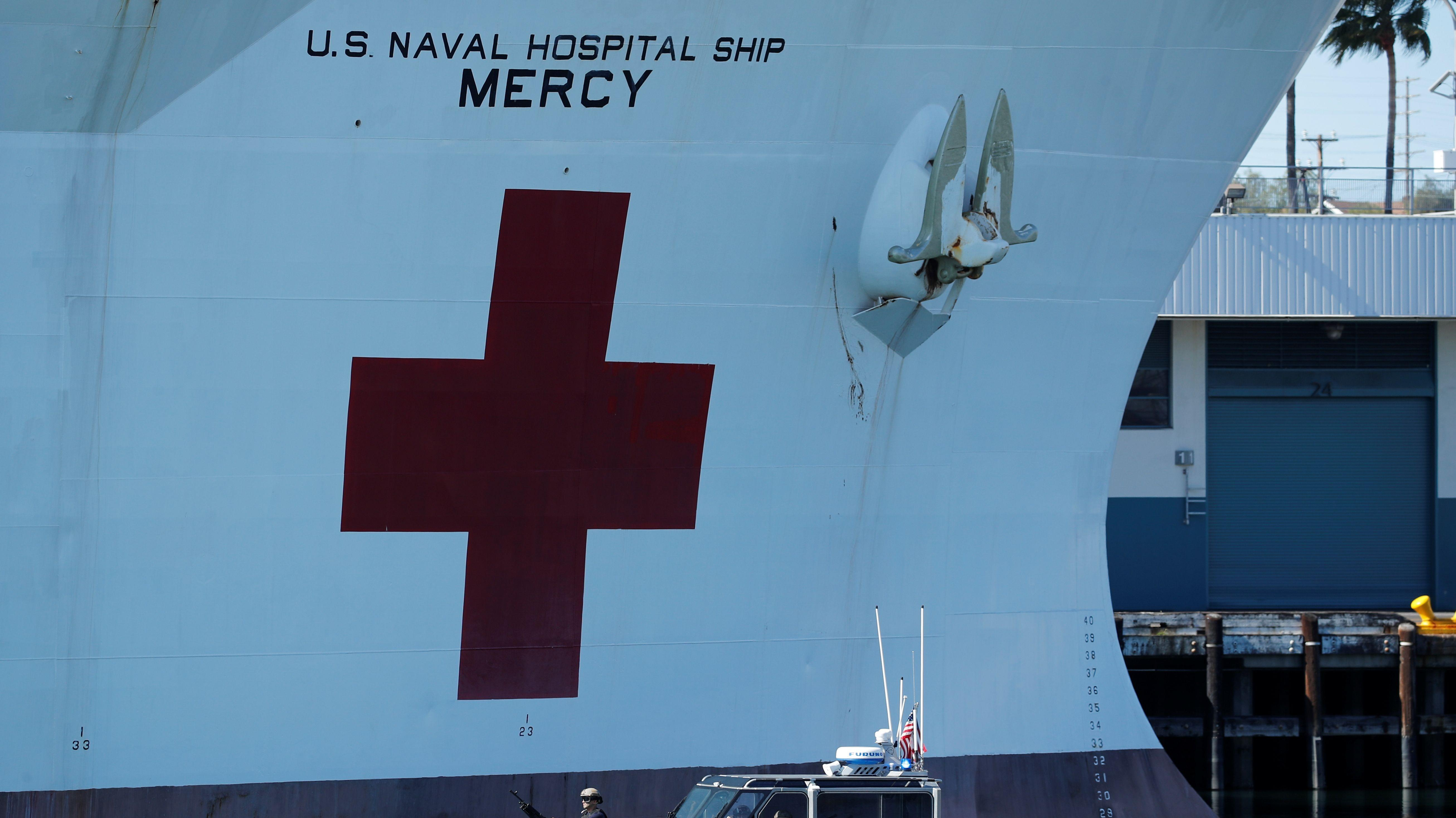 USNS Mercy deployed to LA to help aid COVID-19 crisis Video