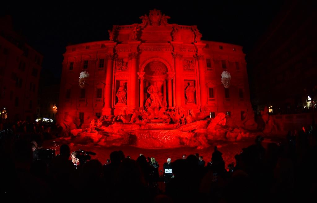 Trevi fountain runs red with 'blood' of persecuted Christians