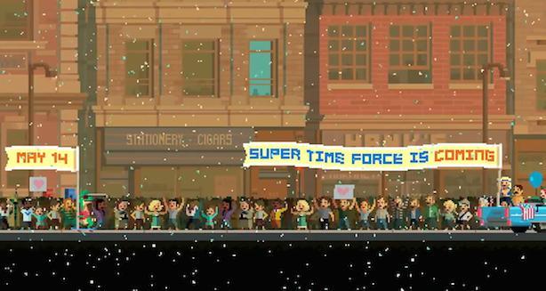 Super Time Force rewinding epic gun battles on May 14