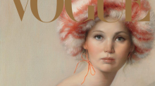 Jennifer Lawrence painted for Vogue's 125th anniversary issue
