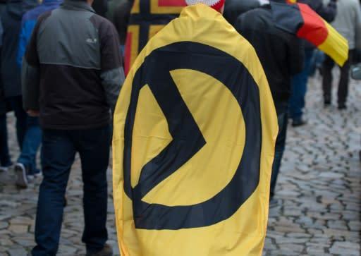 Aufkleber Der Identitären Bewegung In Duisburger