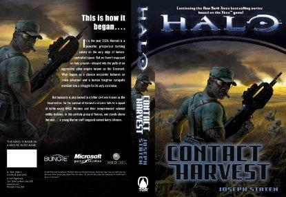 Halo novel Contact Harvest cover art exposed