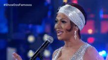 Sol Almeida faz 'blackface' para imitar Whitney Houston e equipe do Faustão é criticada