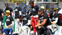 'It's about equality, not politics,' says Hamilton as six drivers refuse to take knee