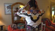 Two-spirit Anishinaabe dancer called to dance powwow