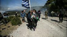 Bewohner griechischer Inseln protestieren gegen Bau neuer Flüchtlingslager