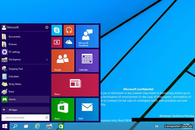 Una nueva filtración de Windows 9 deja ver su renovado escritorio