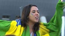 Brasileños celebran triunfo agónico ante Costa Rica