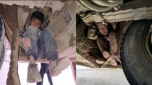 Niños viajaron escondidos bajo un autobús por una razón que está conmoviendo al mundo