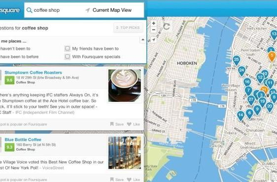 Foursquare launches local search for all, goes after the likes of Yelp and Google