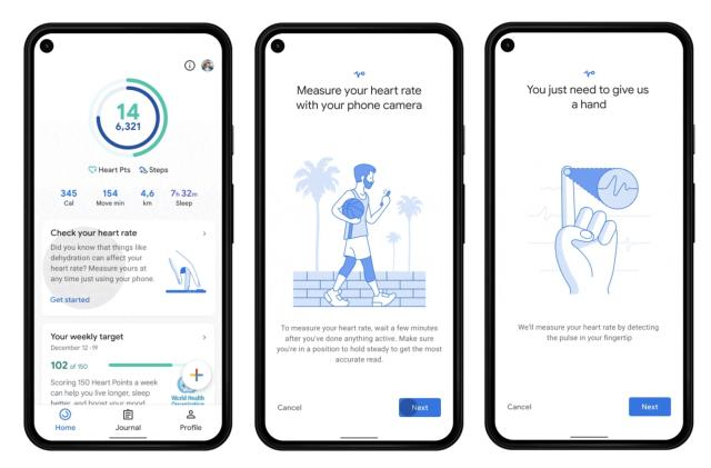 Google Fit's camera-based heart and breathing rate trackers arrive March 8th